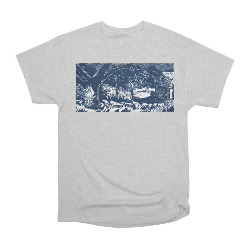 Danger Drew spying on a very suspicious digging Finny Women's Heavyweight Unisex T-Shirt by Guinea Pigs and Books
