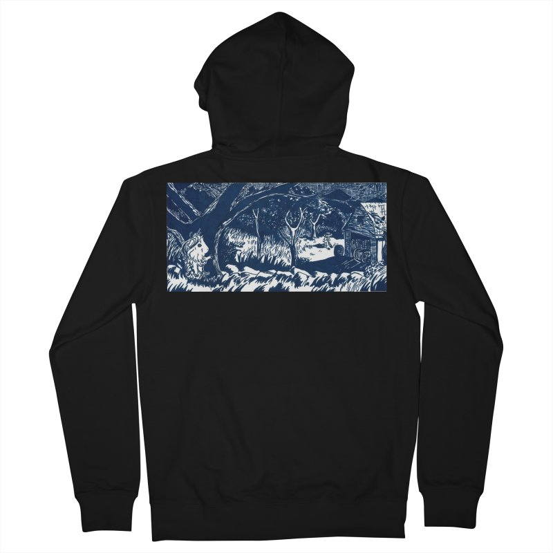 Danger Drew spying on a very suspicious digging Finny Women's French Terry Zip-Up Hoody by Guinea Pigs and Books