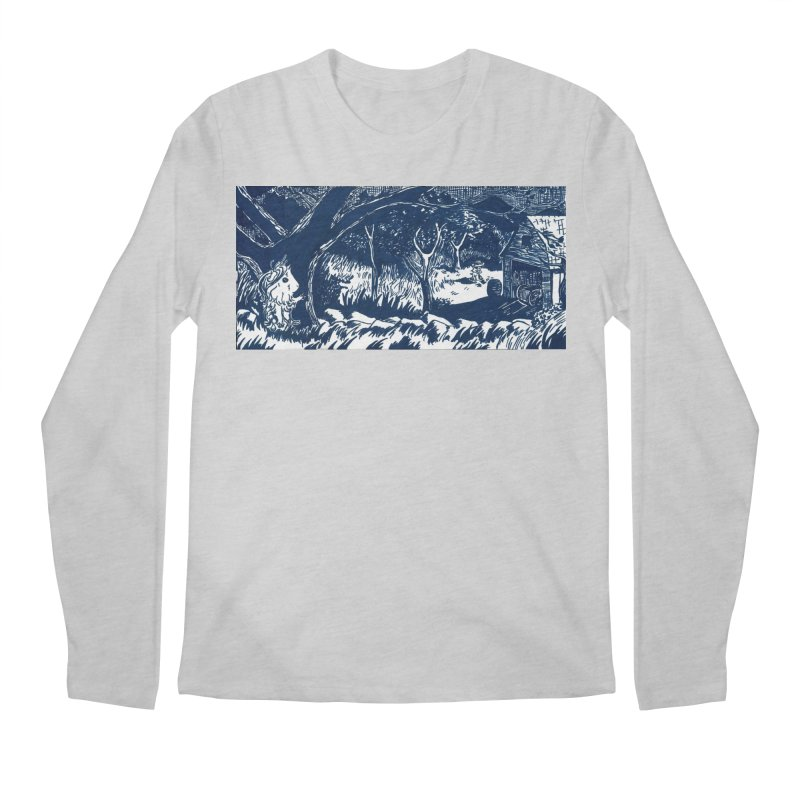 Danger Drew spying on a very suspicious digging Finny Men's Regular Longsleeve T-Shirt by Guinea Pigs and Books