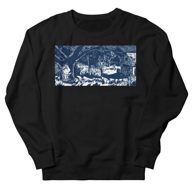 Danger Drew spying on a very suspicious digging Finny Women's French Terry Sweatshirt by Guinea Pigs and Books