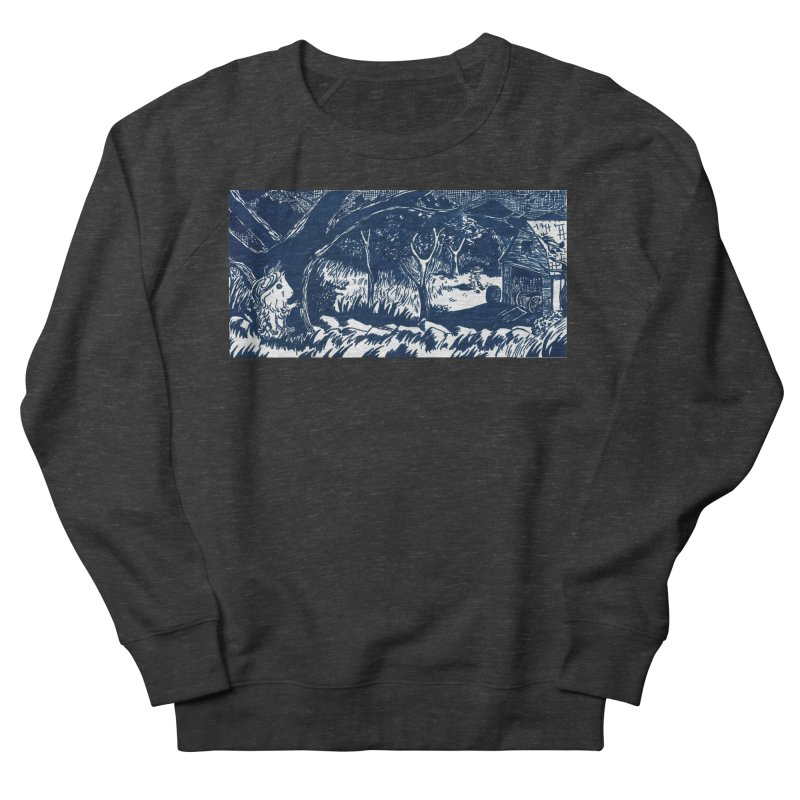 Danger Drew spying on a very suspicious digging Finny Men's French Terry Sweatshirt by Guinea Pigs and Books