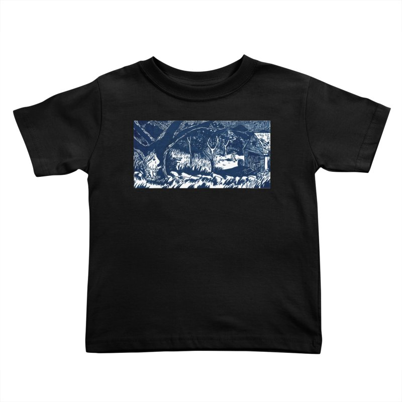 Danger Drew spying on a very suspicious digging Finny Kids Toddler T-Shirt by Guinea Pigs and Books
