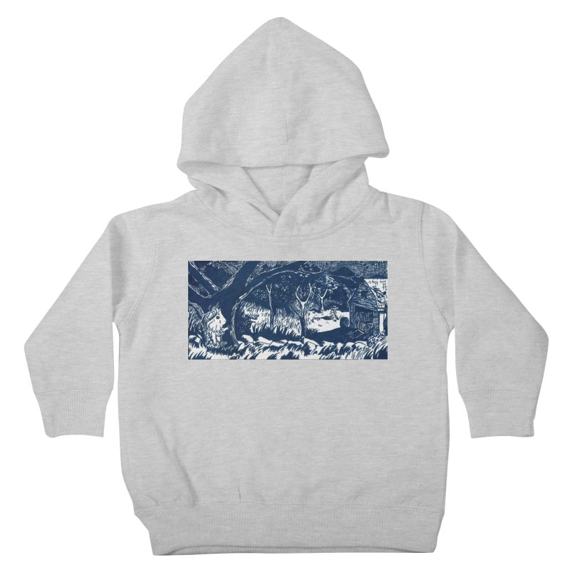 Danger Drew spying on a very suspicious digging Finny Kids Toddler Pullover Hoody by Guinea Pigs and Books