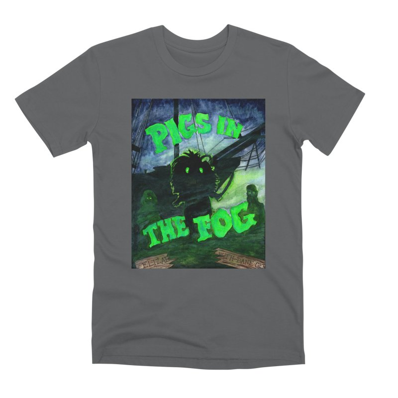 Pigs in the Fog Men's Premium T-Shirt by Guinea Pigs and Books