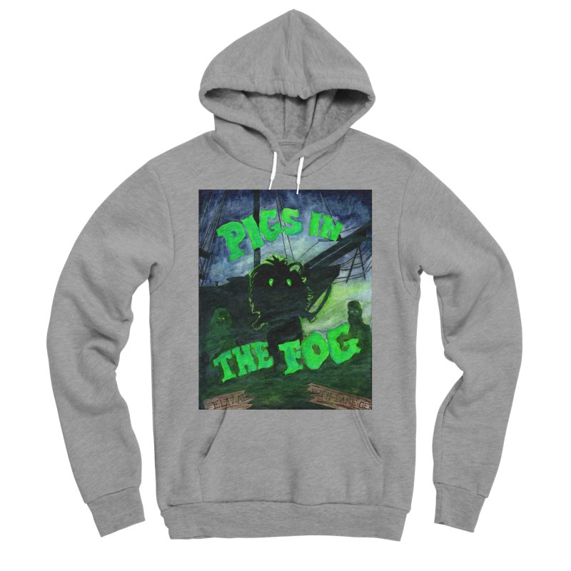 Pigs in the Fog Men's Sponge Fleece Pullover Hoody by Guinea Pigs and Books