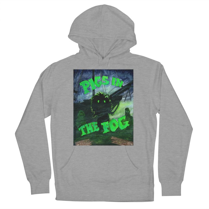Pigs in the Fog Men's French Terry Pullover Hoody by Guinea Pigs and Books