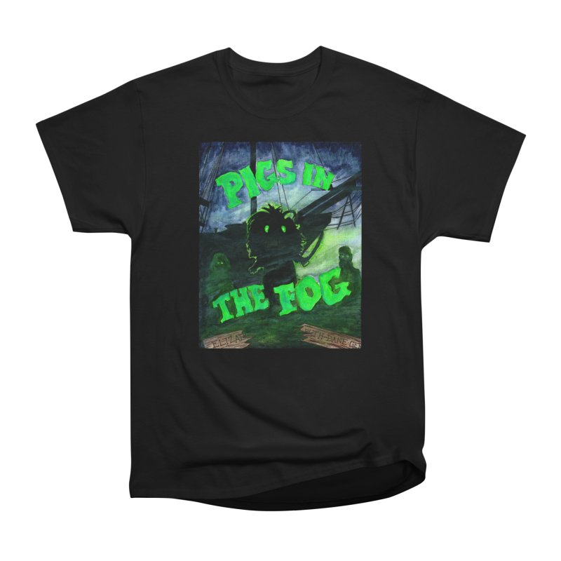 Pigs in the Fog Men's Heavyweight T-Shirt by Guinea Pigs and Books