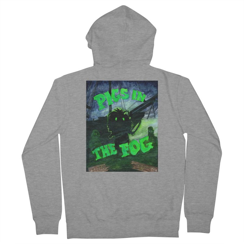Pigs in the Fog Women's French Terry Zip-Up Hoody by Guinea Pigs and Books