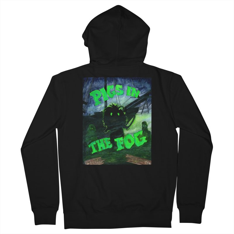 Pigs in the Fog Men's French Terry Zip-Up Hoody by Guinea Pigs and Books