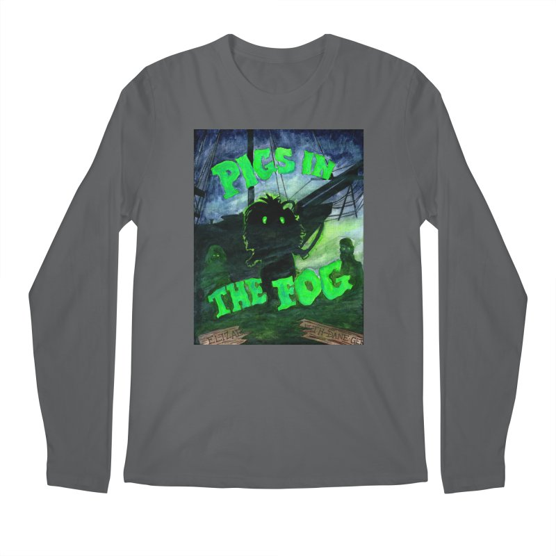 Pigs in the Fog Men's Regular Longsleeve T-Shirt by Guinea Pigs and Books