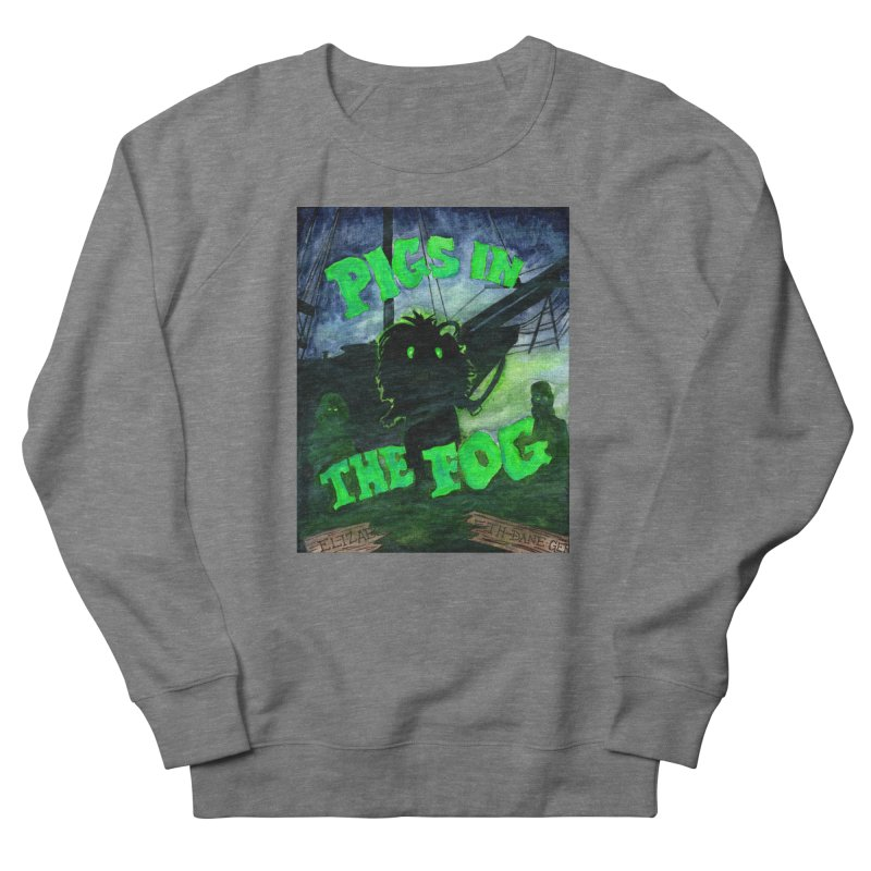 Pigs in the Fog Women's French Terry Sweatshirt by Guinea Pigs and Books