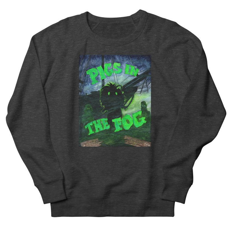 Pigs in the Fog Men's French Terry Sweatshirt by Guinea Pigs and Books