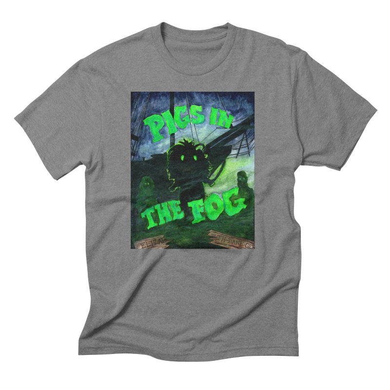 Pigs in the Fog Men's Triblend T-Shirt by Guinea Pigs and Books