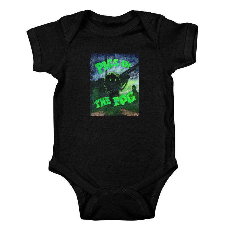 Pigs in the Fog Kids Baby Bodysuit by Guinea Pigs and Books