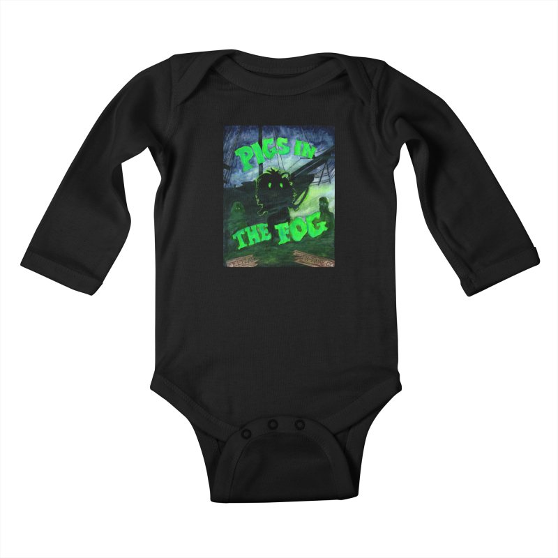 Pigs in the Fog Kids Baby Longsleeve Bodysuit by Guinea Pigs and Books