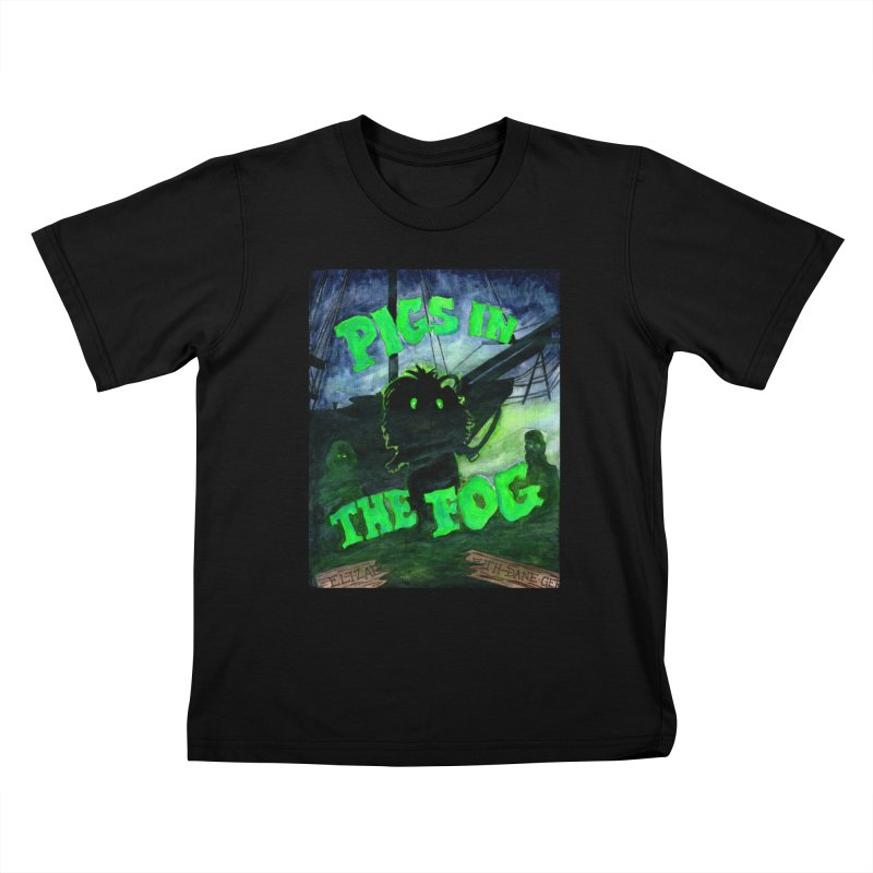 Pigs in the Fog Kids T-Shirt by Guinea Pigs and Books