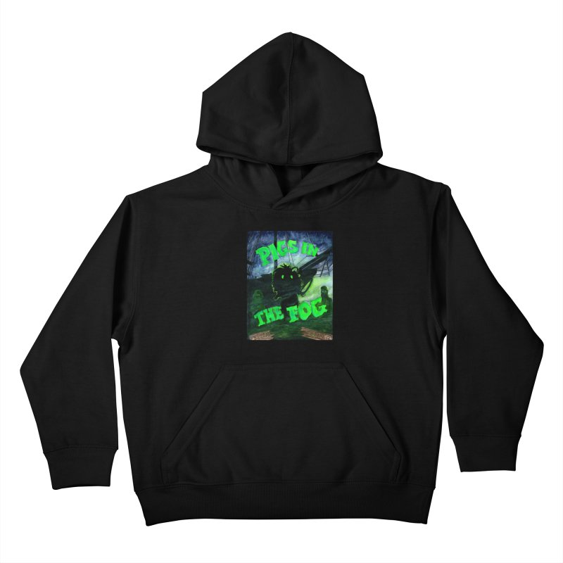 Pigs in the Fog Kids Pullover Hoody by Guinea Pigs and Books