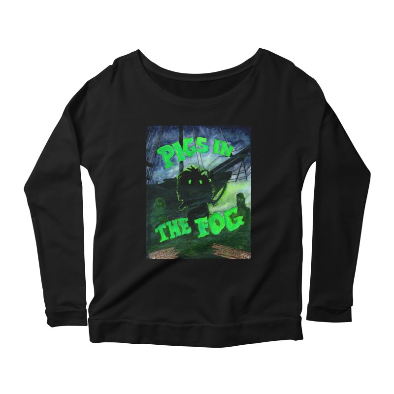 Pigs in the Fog Women's Scoop Neck Longsleeve T-Shirt by Guinea Pigs and Books