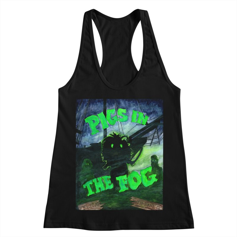 Pigs in the Fog Women's Racerback Tank by Guinea Pigs and Books