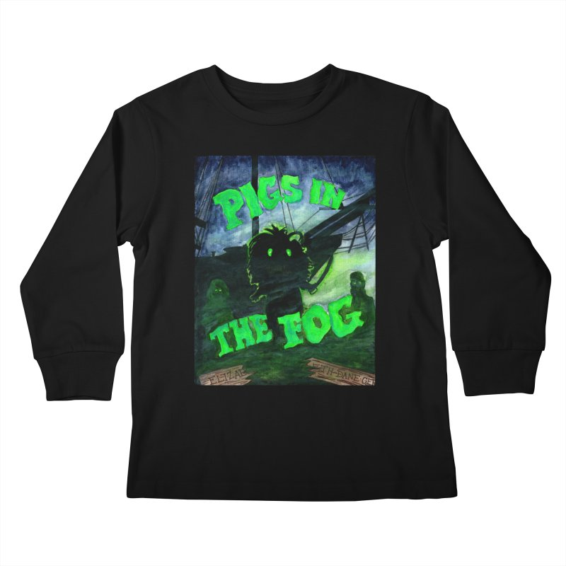 Pigs in the Fog Kids Longsleeve T-Shirt by Guinea Pigs and Books