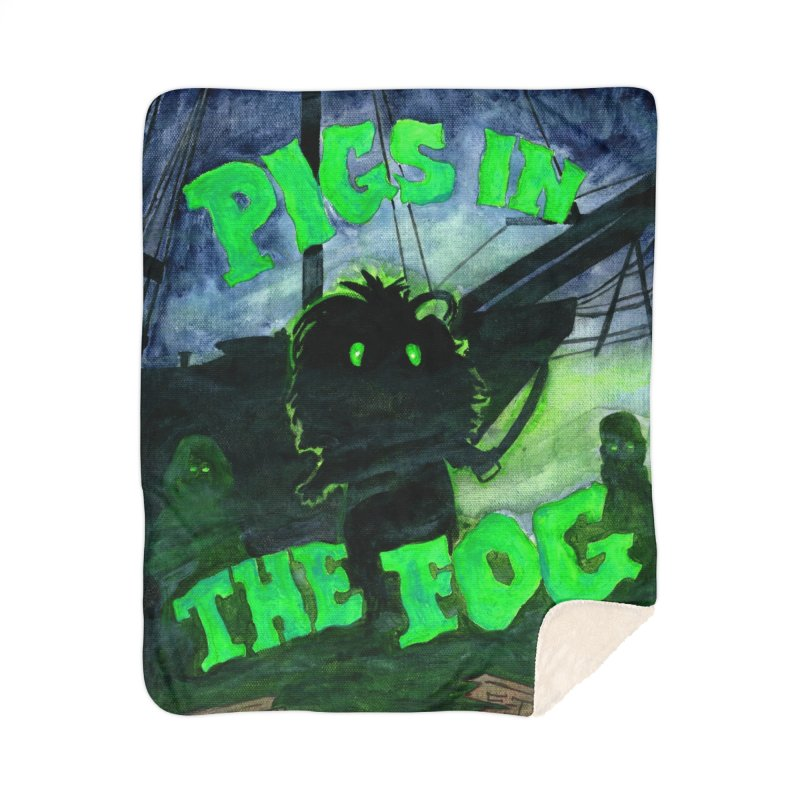 Pigs in the Fog Home Sherpa Blanket Blanket by Guinea Pigs and Books