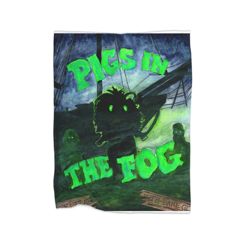 Pigs in the Fog Home Fleece Blanket Blanket by Guinea Pigs and Books