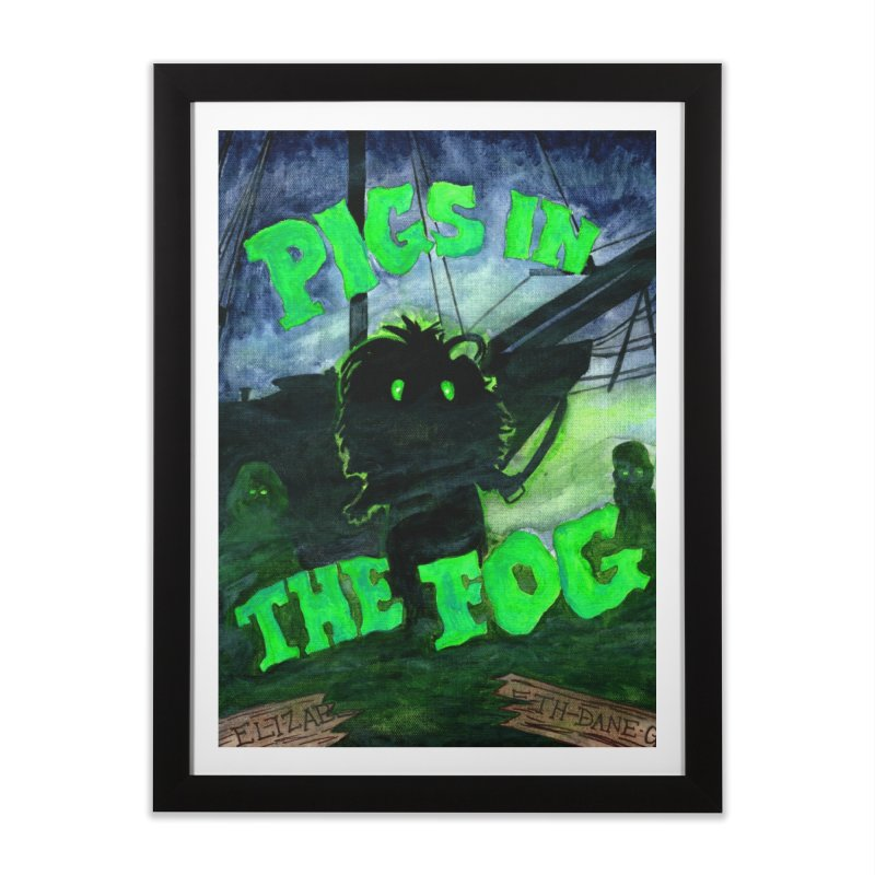 Pigs in the Fog Home Framed Fine Art Print by Guinea Pigs and Books