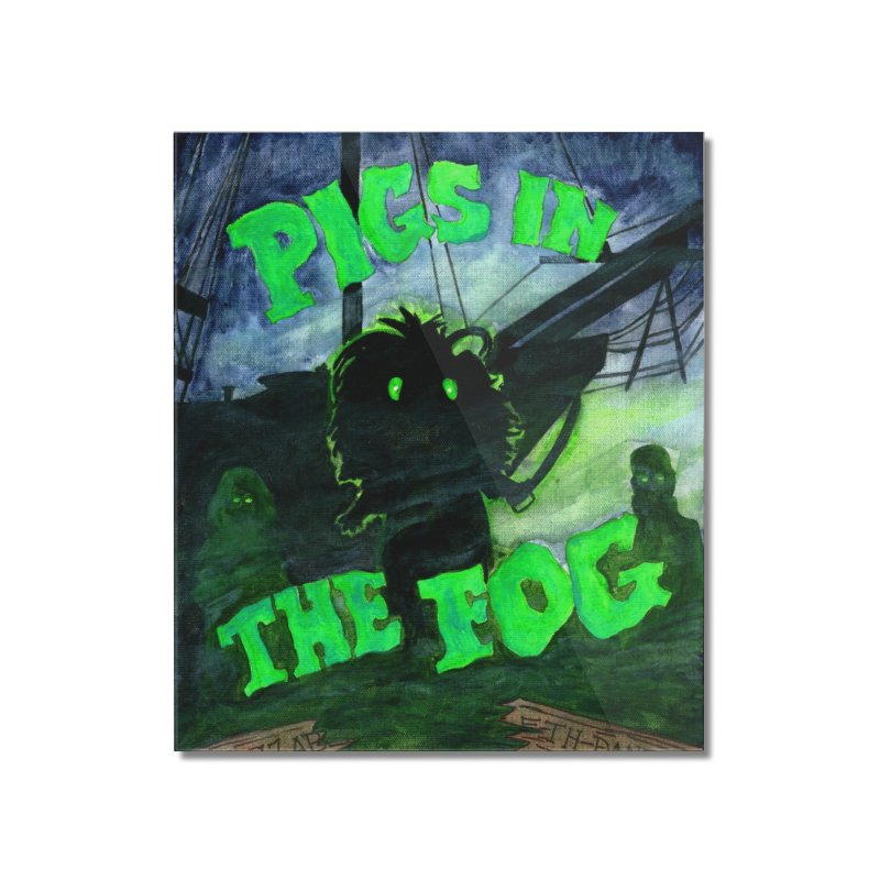 Pigs in the Fog Home Mounted Acrylic Print by Guinea Pigs and Books