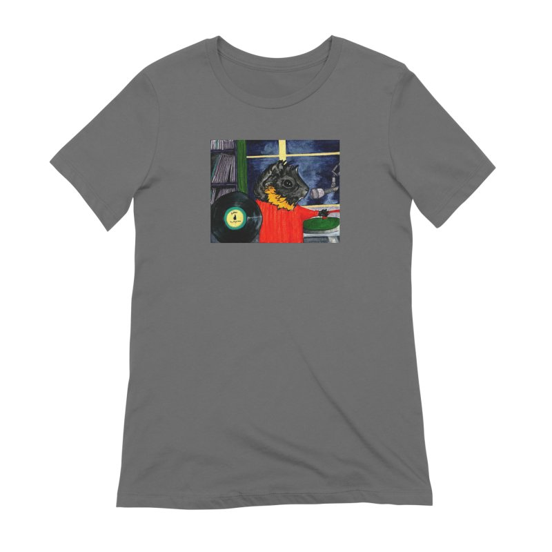 Pigs in the Fog - Merricat DJing Women's Extra Soft T-Shirt by Guinea Pigs and Books