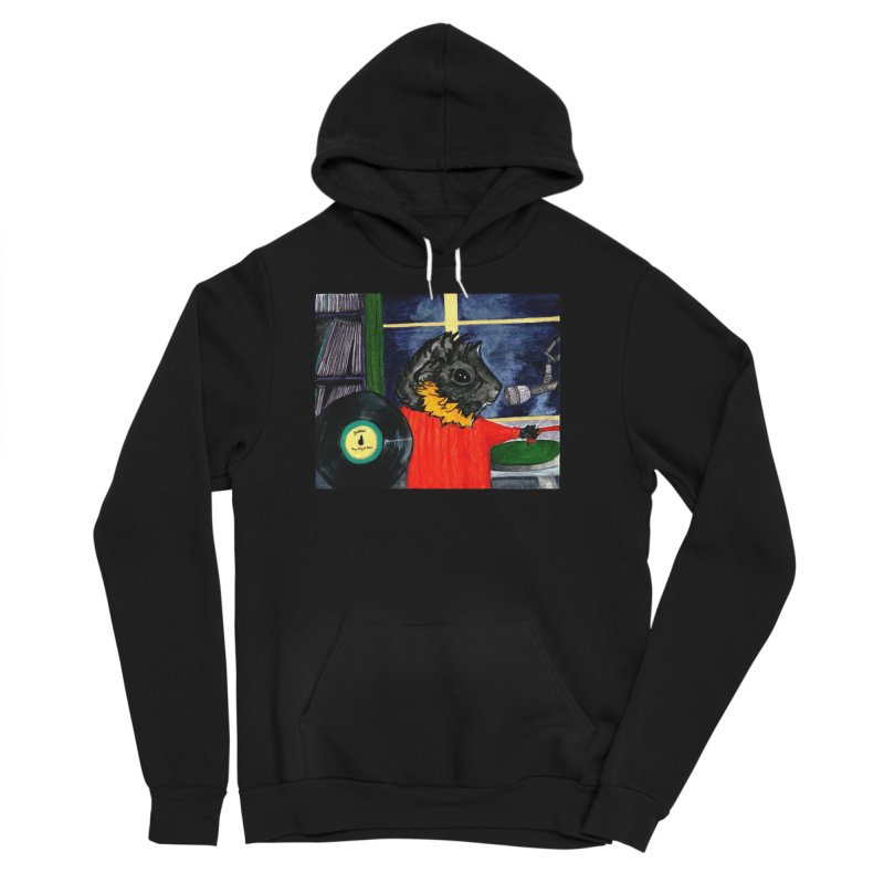 Pigs in the Fog - Merricat DJing Women's Sponge Fleece Pullover Hoody by Guinea Pigs and Books