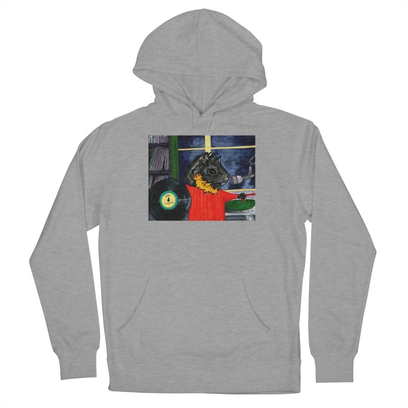 Pigs in the Fog - Merricat DJing Men's French Terry Pullover Hoody by Guinea Pigs and Books