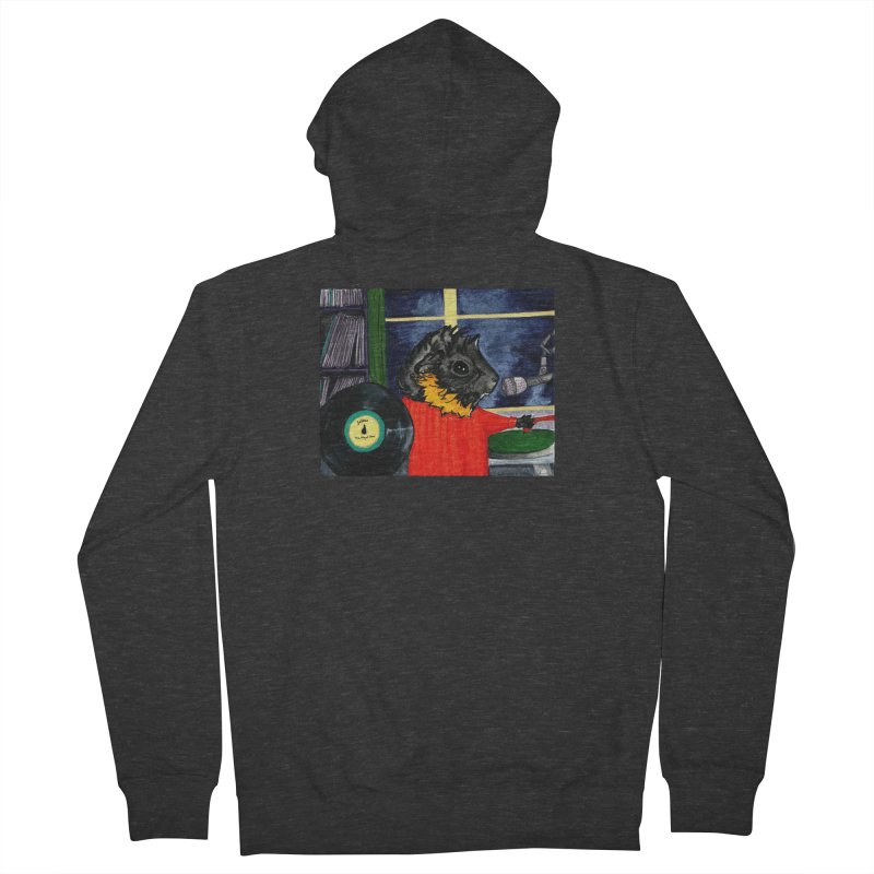 Pigs in the Fog - Merricat DJing Men's French Terry Zip-Up Hoody by Guinea Pigs and Books