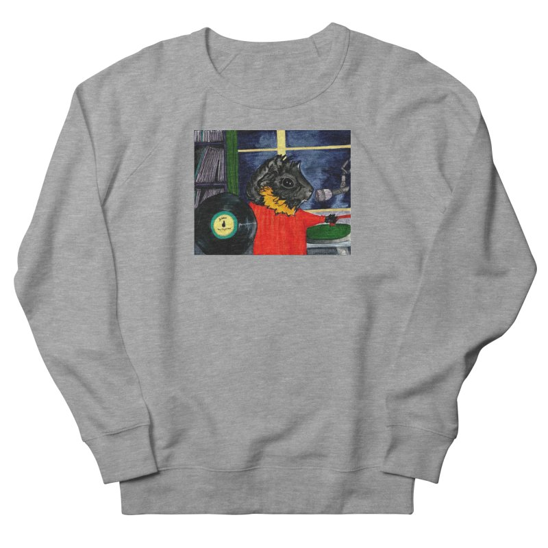 Pigs in the Fog - Merricat DJing Women's French Terry Sweatshirt by Guinea Pigs and Books