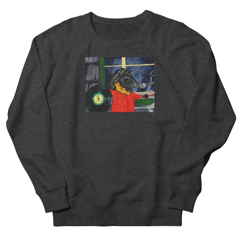 Pigs in the Fog - Merricat DJing Men's French Terry Sweatshirt by Guinea Pigs and Books