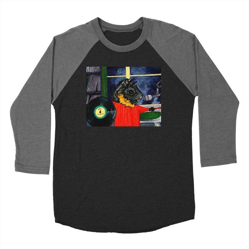 Pigs in the Fog - Merricat DJing Women's Baseball Triblend Longsleeve T-Shirt by Guinea Pigs and Books