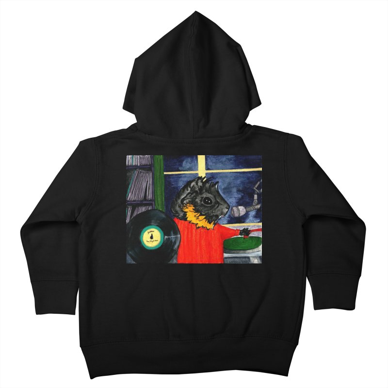 Pigs in the Fog - Merricat DJing Kids Toddler Zip-Up Hoody by Guinea Pigs and Books