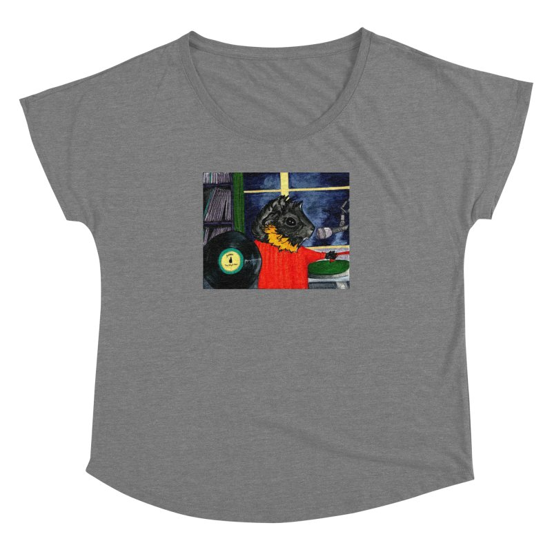 Pigs in the Fog - Merricat DJing Women's Dolman Scoop Neck by Guinea Pigs and Books