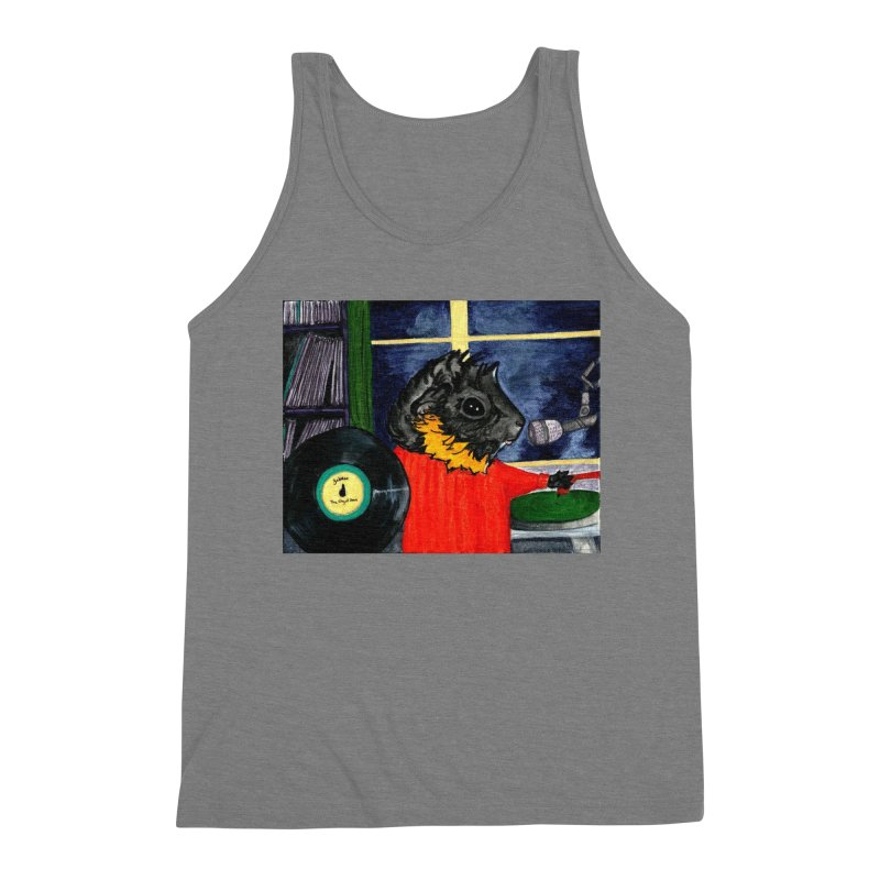 Pigs in the Fog - Merricat DJing Men's Triblend Tank by Guinea Pigs and Books