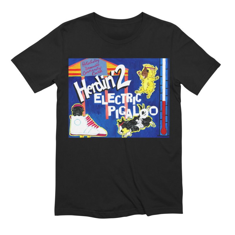 Herdin' 2: Electric Pigaloo Men's Extra Soft T-Shirt by Guinea Pigs and Books