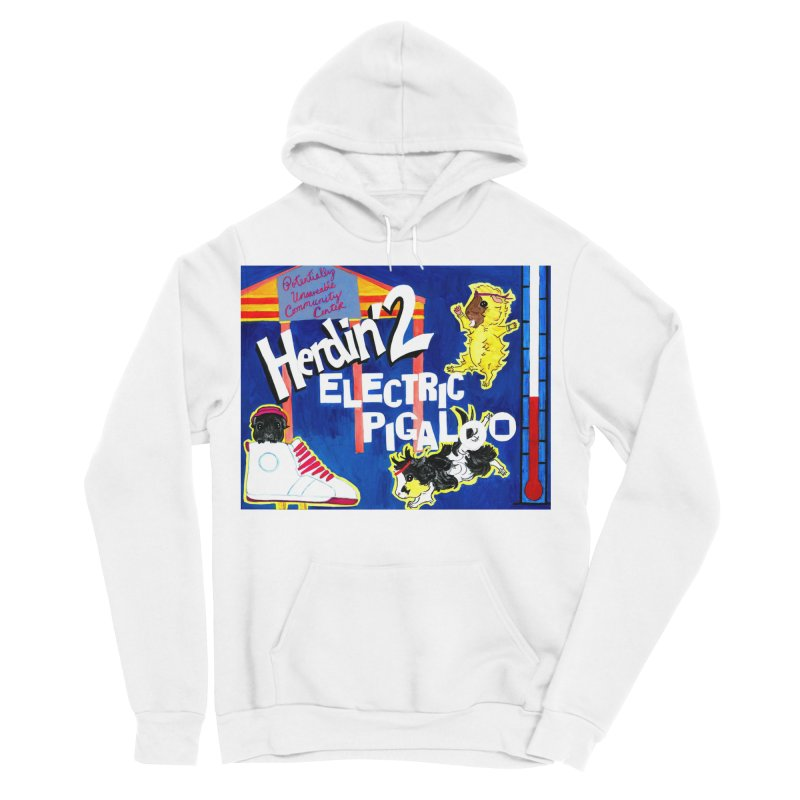 Herdin' 2: Electric Pigaloo Men's Sponge Fleece Pullover Hoody by Guinea Pigs and Books