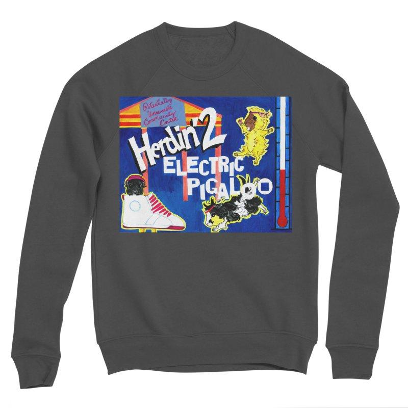Herdin' 2: Electric Pigaloo Women's Sponge Fleece Sweatshirt by Guinea Pigs and Books