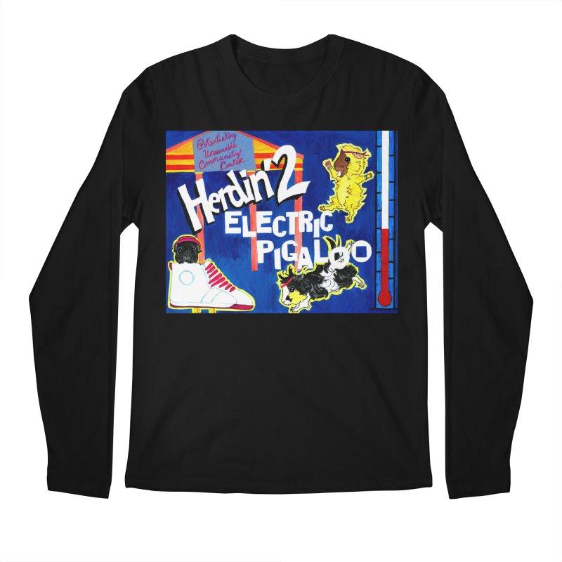 Herdin' 2: Electric Pigaloo Men's Regular Longsleeve T-Shirt by Guinea Pigs and Books