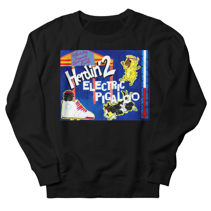 Herdin' 2: Electric Pigaloo Men's French Terry Sweatshirt by Guinea Pigs and Books