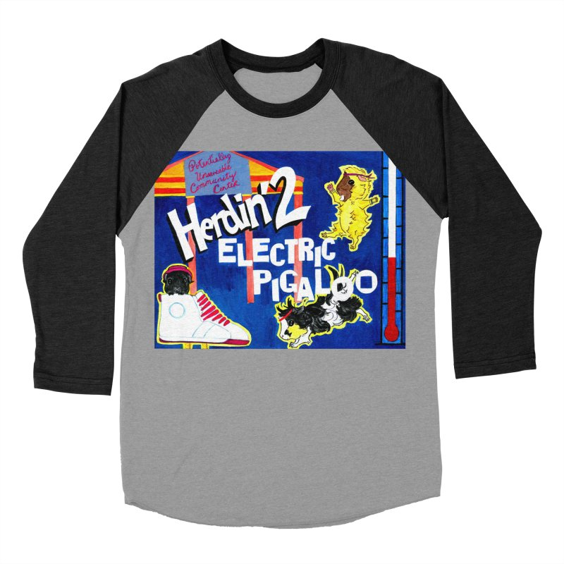 Herdin' 2: Electric Pigaloo Women's Baseball Triblend Longsleeve T-Shirt by Guinea Pigs and Books