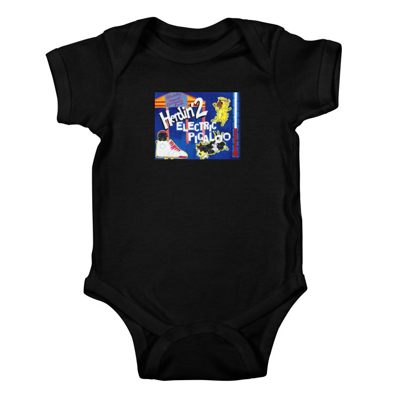 Herdin' 2: Electric Pigaloo Kids Baby Bodysuit by Guinea Pigs and Books