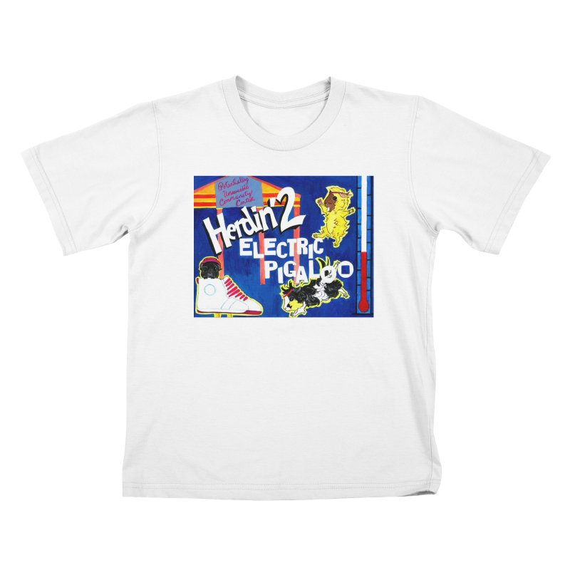 Herdin' 2: Electric Pigaloo Kids T-Shirt by Guinea Pigs and Books