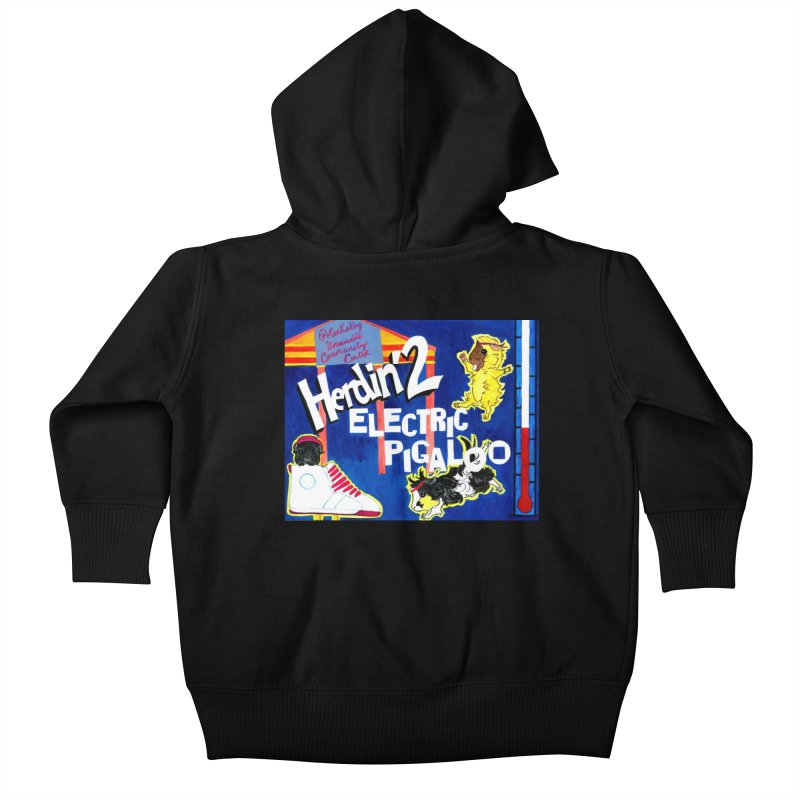 Herdin' 2: Electric Pigaloo Kids Baby Zip-Up Hoody by Guinea Pigs and Books