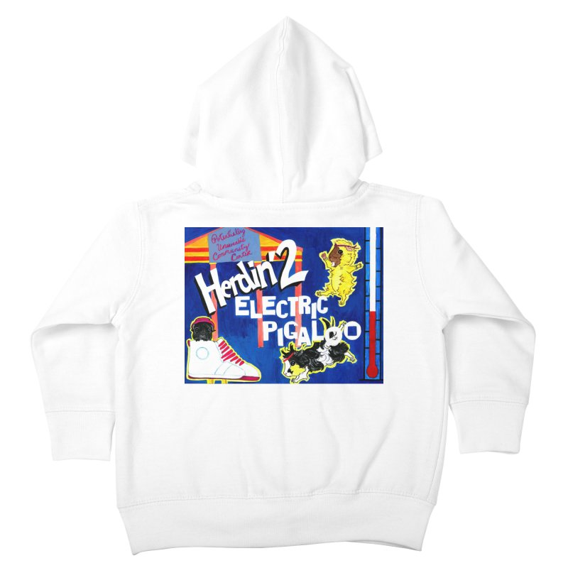 Herdin' 2: Electric Pigaloo Kids Toddler Zip-Up Hoody by Guinea Pigs and Books