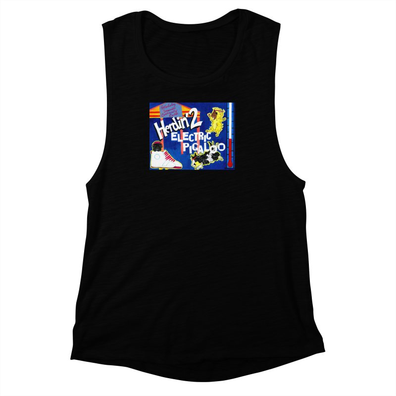 Herdin' 2: Electric Pigaloo Women's Muscle Tank by Guinea Pigs and Books