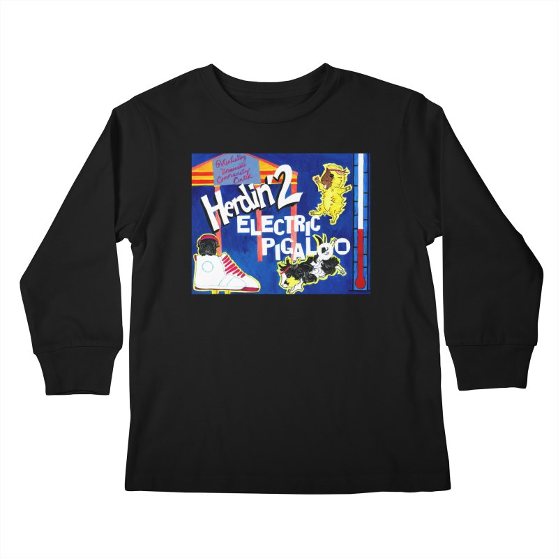Herdin' 2: Electric Pigaloo Kids Longsleeve T-Shirt by Guinea Pigs and Books